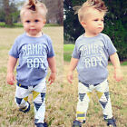 Newborn Infant Baby Mama's Boy T-shirt+ Long Pants Outfits Set Clothes Playsuit
