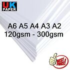 PREMIER A4 WHITE SMOOTH CRAFT DECOUPAGE QUALITY CARD STOCK PAPER PRINTER 300gsm