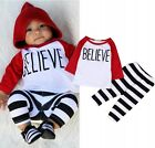 2PCS Toddler Kids Baby Boys Cotton T-shirt Tops+Long Pants Outfits Clothes Set