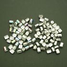 50 Czech Glass, drum shaped beads with a Spectrum or Silver finish size 7mm