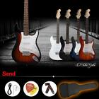 Hot ST Full Size Electric Guitar+Gig Bag Picks Strap Beginners+Free Ship C0F1