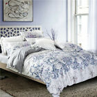 100% NEW COTTON Double Queen Size Doona Cover Set /Quilt Cover Set  Blue Paisley