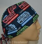 STAR WARS Neon Logo TRADITIONAL TIe Back Unisex Surgical Scrub Hat Cap $13.99 USD