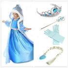 FROZEN VESTITO ELSA ANNA PRINCESS DRESS KIDS COSTUME PARTY FANCY SNOW QUEEN*