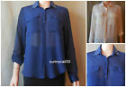 Authentic Abercrombie & Fitch WOMEN blouse top SHIRT Size Small NWT $68 blue