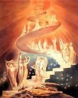 English religious art print:  Jacob's Ladder by Blake