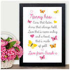 Mothers Day Gifts MY NANNY NANA NAN GRANNY GRAN Keepsake Poem Birthday Christmas