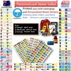 kids Personalised Name Label preschool back2 school water proof sticker cartoon