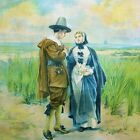 Courtship of Miles Standish by Alfred Fredericks, 1889 (Classic American Print)
