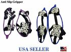 NEW Anti-Slip 18-Spike Ice Snow Grip Crampons Chain Cleat Climbing Hiking-M/L