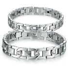 Stainless Steel Magnetic Therapy Germanium Chain Bracelet Arthritis Pain Relief