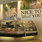 NICE TO MEAT YOU Wall Art Sticker Cafe, Deli, Butchers Shop Counter