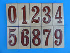 "Ceramic Art Tile House Address Numbers 2""x4"" Brown Numbers on Sand Background"