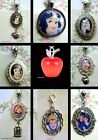 SNOW WHITE CHARM NECKLACE PENDANT LOCKET POISON APPLE PRINCE WITCH DOPEY CHARM