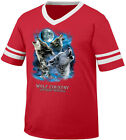 Wolf Country Northern Heritage Wolves Moon Howl Pack In Men's V-Neck Ringer Tee