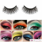 Womens Sexy Fashion Make Up 5 Pairs Long False Eyelash Set with Glue Adhesive
