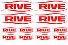 RIVE 12 Sticker Pack - Sign Decal Fishing Rod Tackle Box Window