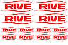 ** RIVE ** 12 Sticker Pack - Sign Decal Fishing Rod Tackle Box Window