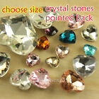8/10/12/14/18/27mm pointed foiled back heart crystal rhinestones Chatons You-pk