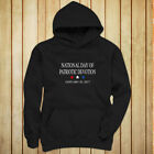 NATIONAL DAY PATRIOTIC DEVOTION PRESIDENT TRUMP Womens Black Hoodie