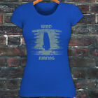 WIND SURFING WATER SPORTS OCEAN SEA BOARD BEACH Womens Blue T-Shirt