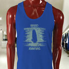 WIND SURFING WATER SPORTS OCEAN SEA BOARD BEACH Mens Blue Tank Top