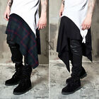 NewStylish mens fashion bottoms Asymmetric grunge wrap skirts