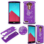 Crystal Rhinestone 3D Diamond Bling Case for LG G4 Shockproof Soft TPU+PC Cover