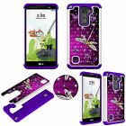 Crystal Bling 3D Case for LG Stylo 2 Plus (MS550) Shockproof Soft TPU+PC Cover