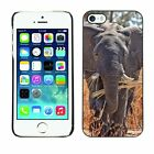 Hard Phone Case Cover Skin For Apple iPhone Elephant eats the dry gr