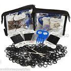 Plaiting kit Strong Rubber Plaiting Bands Horse Pony Black Brown White FREE POST