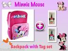 new MINNIE MOUSE girls kids school large bag bags backpack + Tags Name Label