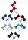 Girls Bow Hair Pins Clips School Uniform Colours Pack of 4 New