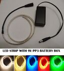 LED Light Strip  + pp3 battery box powered Showcase Camping Longboard Nightlight