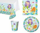 Mermaid Friends Ocean Creatures Birthday Party Napkins Plates Cups Tablecover