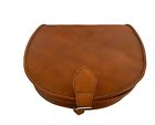 Vintage Style Hand Made Real Leather Saddle Hand Bag Satchel-tan,brown,black,red