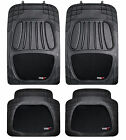 4 Pc Heavy Duty Front Rear Car Floor Mats Carpet Set Non-Slip Rubber PVC Mesh