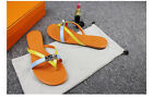 Women's Cowhide Leather Beach Sandals Flip Flops Flats Slipper US 5-10 11 Colors