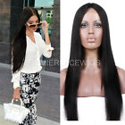 Lace Front Wig Middle Part Light Yaki straight Human Hair Lace Wigs Free Part
