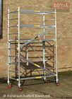 Trade King 730 Up to 9.65m Aluminium Scaffold Tower + Height Adjustable Wheels <br/> Industrial Trade Scaffold Tower EN1004 Class 3