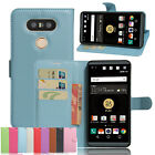 """Retro Premium PU Leather Wallet Flip Stand Card Slots Case Cover For LG V34 5.2"""""""