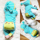 US Stock Newborn Baby Boy Girl Romper Bodysuit Jumpsuit Outfits Striped Clothes