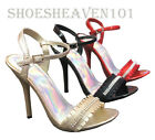 Women's High Heel Sandal Open Toe Prom Dress Shoes