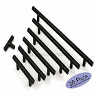 30PC Black Kitchen Cabinet Door Handles T Bar Drawer Pull Knobs Stainless Steel