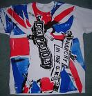 PUnK T-shirt Sex Pistols Anarchy in the UK Union Jack Flag Inside Out M38""