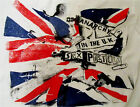 Punk T-shirt Sex Pistols Anarchy in the UK Union Jack Flag Inside Out Tee Sm 36""