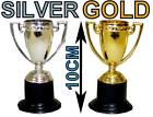 MINI PLASTIC GOLD SILVER FIRST SECOND PLACE AWARD TROPHIES CUPS SPORTS FUN PLAY