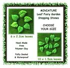 MINIATURE fairy garden LEAF stepping stones - CHOOSE YOUR SIZE - polymer clay