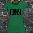FEMINIST GENDER EQUALITY PROTEST RIGHTS PRIDE Womens Green T