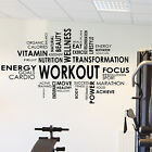Gym Exercise Fitness Cloud Word Quote Wall Art Stickers Decals Vinyl Training